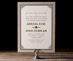 Bella Figura 2013 - Fitzgerald Letterpress Wedding Invitation