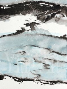 Ink Painting, cove, Newfoundland art, landscape and scenic, printed on specialty print paper, A4 size on Etsy, 51,81 kr