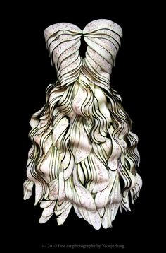 dress made of eggplant by korean artist, yeonju sung.