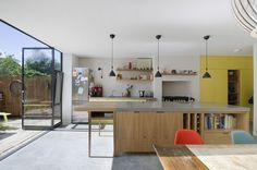 Kitchen island, House for Two Artists, Gort Scott Architects