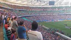 ENTRADA EM CAMPO E HINOS - Jogo E.C.Bahia 1X2 Santa Cruz - Arena Fonte N...