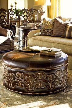Cool nailhead detail on the ottoman
