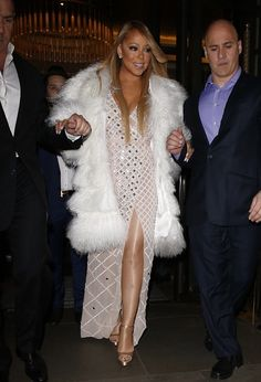 Diva Mariah Carey stepped in style at the O2 Arena in London.