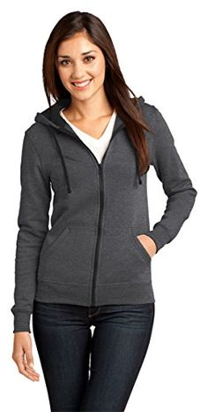 District Womens Fleece Concert Drawstring Hoodie_Heathered Charcoal_XXL * To view further for this item, visit the image link. Full Zip Hoodie, Fleece Hoodie, Active Wear For Women, Purple, Sweatshirts, Fashion Hoodies, Jackets, Clothes, Concert