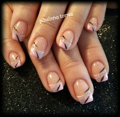 French pedicure designs flower pink new ideas Square Nail Designs, French Nail Designs, French Manicure Nails, French Tip Nails, French Pedicure, Sparkle Nails, Classy Nails, Nagel Gel, Beautiful Nail Art