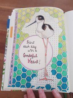 Bullet journal; first page gratitudelog