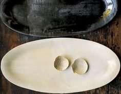 """:""""I've been collecting pottery by New York ceramicist Joan Platt for years,"""" Shaker says. The Fish Platter is $300 at the Signature Shop and Gallery. Photo by Susie Chushner."""