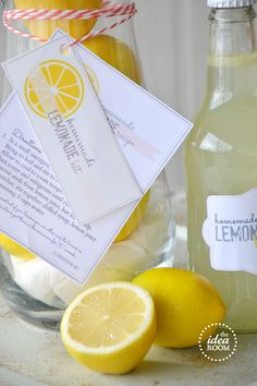 Homemade Lemonade Gift Kit and Printables - The Idea Room