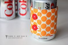 Ice Cream Cozy / Soda Can Cozy……tucked into a Gift Tote | Make It and Love It