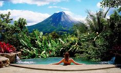 The Springs at Arenal Costa Rica.  Rejuvenating hot springs, Volcano view from your room, beautiful facilities and spa - I can't wait to go back,