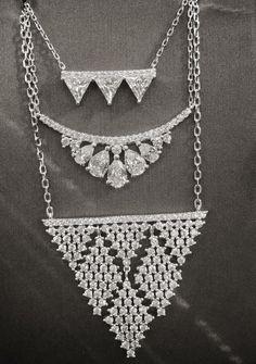 Unique diamonds necklaces