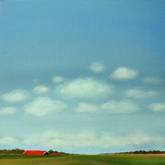 "Saatchi Art Artist: Nelly Van Nieuwenhuijzen; Acrylic 2013 Painting ""Dutch landscape"""