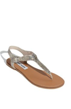 """This will be your summer """"go to"""" sandal.  Looks great with shorts or dresses!  Steve Madden at Nordstrom."""