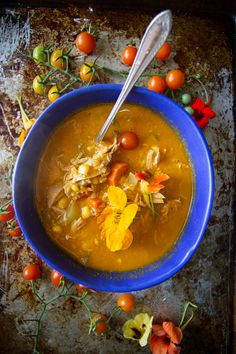 Tomato Chicken Vegetable Soup from @heatherchristo. Yum!