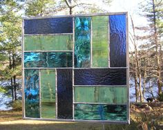 Stained Glass  Panel Quilt Pattern  Rail Fence by CalmWatersStudio, $80.00