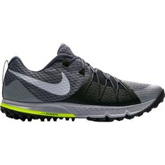 Nike Men's Zoom Wildhorse 4 Trail Running Shoes, Gray