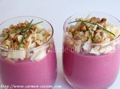 Beet, apple and walnut verrine - Gourmet cuisine of Carmencita - Apéritif - Salad Recipes Healthy Beet Recipes, Healthy Salad Recipes, Frugal Meals, Easy Meals, Mexican Dinner Recipes, Vegetable Drinks, Beets, Tapas, Food And Drink