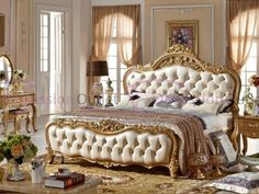modern european solid wood bed Fashion Carved leather french bedroom furniture on Aliexpress The post wood bed Fashion Carved leather from Aliexpress appeared first on IamHolic. Classic Bedroom Furniture, European Furniture, Modern Bedroom, Cool Furniture, Modern Bedding, Luxury Furniture, Home Bedroom Design, Home Decor Bedroom, Wood Bedroom