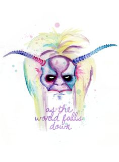 Labyrinth As The World Falls Down Fine Art Print by LVBart on Etsy, $15.00