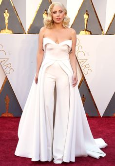 The Biggest Red-Carpet Risks From the 2016 Oscars | People - Lady Gaga in Brandon Maxwell