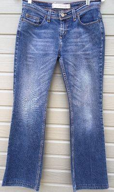 Express Womens Jeans Straight Leg Medium wash Distressed size 6 28x29 #Express #StraightLeg