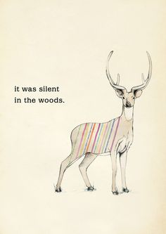 It was silent in the woods - KAREENA ZEREFOS (Sydney artist) - Poster