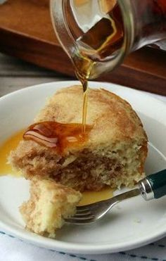 Slow-Cooker Cinnamon Roll Pancake# slow cooker healthy recipes