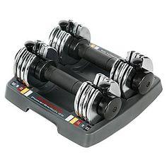 Weider -PowerSwitch Pair Adjustable 12.5 lb. Hand Weights
