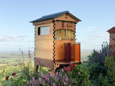 Flow Hive: New Beehive Design Puts Honey on Tap - WebEcoist Hive Stand, New Beehive, Harvesting Honey, Beekeeping For Beginners, Backyard Beekeeping, Western Red Cedar, Bee Keeping, Garden Design, Outdoor Decor