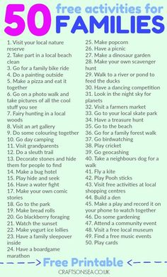 50 Free Activities for Families To Try This Weekend! Save money and have fun with this list of 50 free activities for families as recommended by parents. Includes a printable list too! 50 Free Activities for Families To Try This Weekend! Coping Skills, Life Skills, Social Skills, Kids And Parenting, Parenting Hacks, Parenting Humor, Single Parenting, Bonding Activities, Children Activities