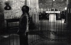 "1992 Cuoghi Corsello ""P.Brain di candele"" scultura di 99 candelabri di ferro"