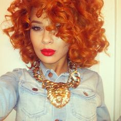 Her hair color is gorg! ❤♔Life, likes and style of Creole-Belle ♥