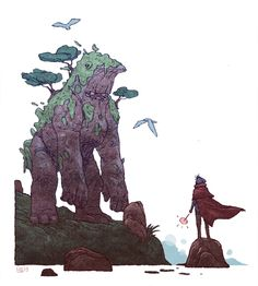 A young Quirinus Quirrell hunts a mountain troll. For this week's topic onWizarding Wednesday. Jake Wyatt