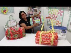 Aula 30 - Bolsa Viagem - YouTube Backpack Pattern, Pouch Pattern, Mens Travel Bag, Travel Bags For Women, Diy Duffle Bag, Etsy Fabric, Diy Bags Purses, Diy Handbag, Carry All Bag
