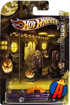 2012 DC Comics Universe Halloween Batman Batmobile 1/64 die-cast vehicle from Hot Wheels