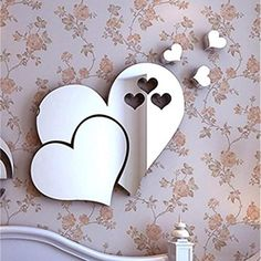 Cheap heart wall stickers, Buy Quality wall sticker directly from China stickers for Suppliers: Mirror Love Hearts Wall Sticker Decal DIY Wall Stickers for Living Room Modern Style Home Room Art Mural Decor Removable PS