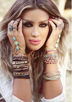 "Maya Diab  : "" Lebanese , beauty !  Beautifully , blessed .. """