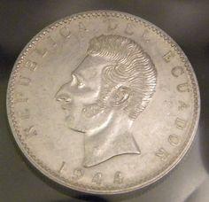 1944 Republica De Ecuador 10g 0.72 Silver Coin Dos by OlyTrader