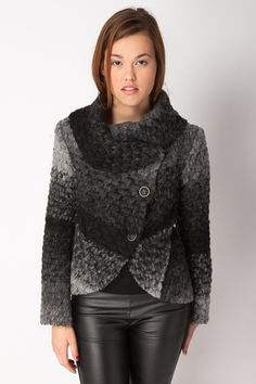 Black Asymmetric Wool Jacket - Jackets & Coats - Clothing  http://jessyss.com/clothing/jackets-coats/black-asymmetric-wool-jacket.html?barva=