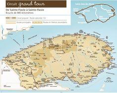 Carte de la piste cyclable du parc national de forillon en for Chambre d hote quebec city