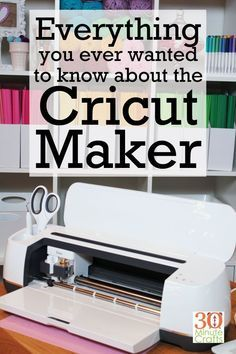 Everything you ever wanted to know about the Cricut Maker - 30 Minute Crafts - - Everything you ever wanted to know about the Cricut Maker - from what makes it special to the tools that come with it to if it is worth the money. Fun Diy Crafts, Jar Crafts, Diy Craft Projects, Creative Crafts, Project Ideas, Creative Ideas, Cricut Craft Room, Cricut Tutorials, Sewing Tutorials