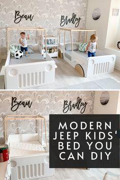 Cool Toddler Beds, Boy Toddler Bedroom, Toddler Rooms, Baby Bedroom, Baby Room Decor, Kids Bedroom, Toddler Car Bed, Toddler And Baby Room, Child Room