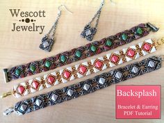 Backsplash Bracelet and Earring Tutorial with Tango Beads and Silky Beads