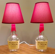 Lighten up a little with this brilliant DIY Bottle Lamps tutorial by Kiri Masters of ilikethatlamp.