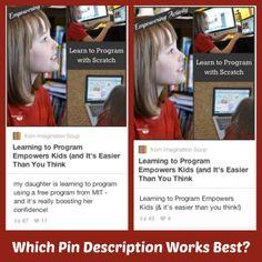Which pin description is better? (Good article on description types)