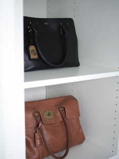 Bags / walk in closet / mulberry bayswater / ralph lauren / Kuistin kautta blog