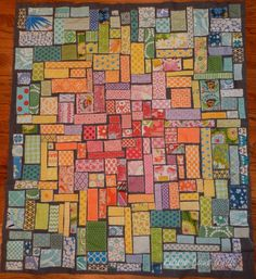 Ticker tape quilt top