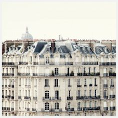 Paris buildings, windows, balconies
