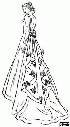 Kate Middletons Royal Wedding Dress Coloring Page
