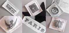 great stamping on white fabric